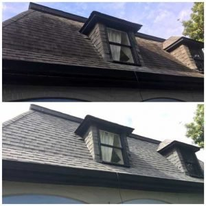 Curb Appeal Pros eliminates black streaks on roofs in St. Louis.
